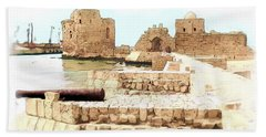 Do-00423 Citadel Of Sidon Bath Towel by Digital Oil