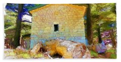 Do-00435 Building Surrounded By Cedars Bath Towel by Digital Oil