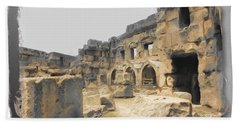 Bath Towel featuring the photograph Do-00452 Inside The Ruins by Digital Oil