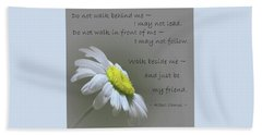 Hand Towel featuring the mixed media Walk Beside Me by Movie Poster Prints