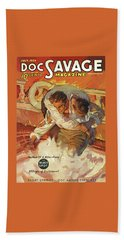 Doc Savage The Black Spot Bath Towel