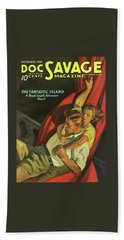 Doc Savage The Fantastic Island Bath Towel