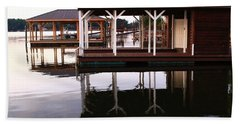 Dock Reflections Hand Towel