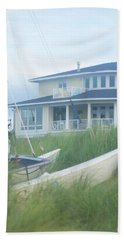Hand Towel featuring the photograph Docked In The Yard Va Beach by Suzanne Powers
