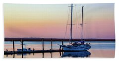 Docked On Jekyll Island Hand Towel