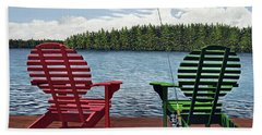 Dockside Hand Towel by Kenneth M  Kirsch