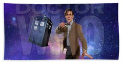 Doctor Who Bath Towel by Pat Cook
