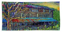 Bath Towel featuring the painting Dodds Creek Mill, ,floyd Virginia by Hidden Mountain