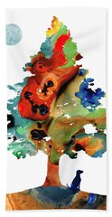 Dog Art - Contemplation 2 - By Sharon Cummings  Hand Towel