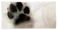 Dog Art - I Paw You Bath Towel by Sharon Cummings