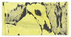 Dog At The Beach - Black Ivory 3 Bath Towel