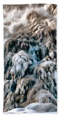 Dog Falls Hand Towel by Jim Proctor