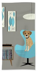 Dog In Egg Chair Hand Towel