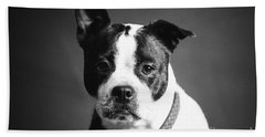 Dog - Monochrome 1 Bath Towel
