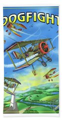 Dogfight Hand Towel by Scott Ross