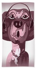 Doggie Singing The Blues Hand Towel