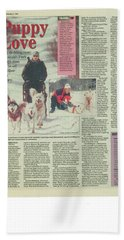 Dogsledding Travel Article Toronto Sun Hand Towel