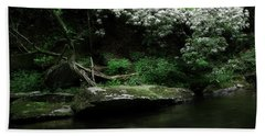Rhododendron Along The River Bath Towel