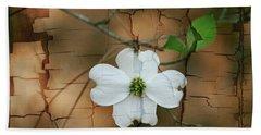 Dogwood Bloom Bath Towel by Cathy Harper