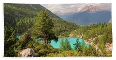 Bath Towel featuring the photograph Dolomiti View by Yuri Santin