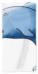 Dolphin Blue Bath Towel
