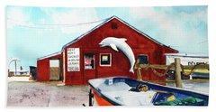 Dolphin Dock II Bath Towel