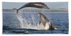 Dolphins Having Fun Hand Towel