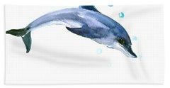 Dolphin Hand Towel by Suren Nersisyan