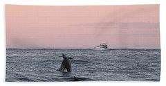 Dolphins At Play Bath Towel