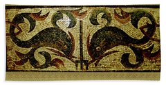 Dolphins Of Pompeii Bath Towel by Asok Mukhopadhyay