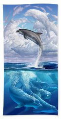 Dolphonic Symphony Hand Towel