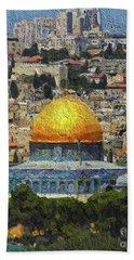 Dome Of The Rock, Jerusalem, Israel Bath Towel