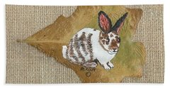 domestic Rabbit Hand Towel by Ralph Root