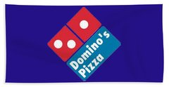 Domino's T-shirt Hand Towel by Herb Strobino