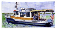 Don And Kathys Boat Hand Towel by John D Benson