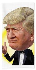 Bath Towel featuring the digital art Donald Trump by Scott Ross