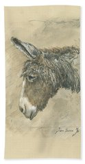 Donkey Portrait Hand Towel