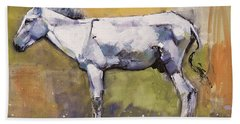 Donkey Stallion, Ronda Hand Towel by Mark Adlington