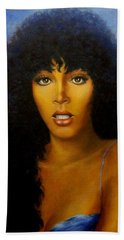 Bath Towel featuring the painting Donna Summers by Loxi Sibley