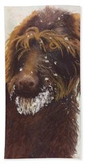 Don't Eat The Snow Hand Towel by Nancy Jolley