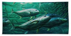 Bath Towel featuring the photograph Don't Mess With Bluefin Jack by Glenn McCarthy