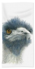 Dont Mess With Emu Bath Towel by Phyllis Howard