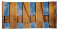 Bath Towel featuring the photograph Don't Take A Fence by Paul Wear