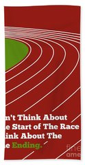 Don't Think About The Start Usain Bolt Sport Quotes Poster Bath Towel