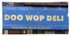 Doo Wop Deli Bath Towel by Cole Thompson