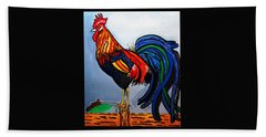 Doodle  Dum  Rooster Hand Towel