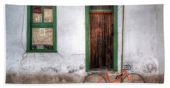 Bath Towel featuring the photograph Door 345 by Lynn Geoffroy