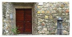 Door And Fountain  In Anzio Italy Hand Towel