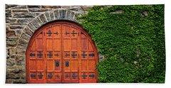 Door At Old Winery Hand Towel