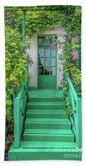 Door To Claude Monet's Home, Giverny 2 Bath Towel